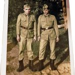 Restored colourised photographs of World War II soldiers