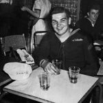 Happy sailor after photograph has been restored