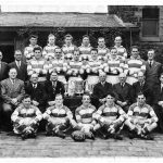 Photograph of rugby team after being repaired expertly at photo fixer