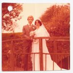 Red colour cast removed from wedding photograph